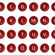 Alphabet - Signed and sealed Red — Stock Photo #9393564