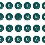 Alphabet - Signed and sealed turquoise — Stock Photo #9393585