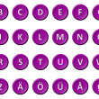 Alphabet - Signed and sealed Violet — Stock Photo