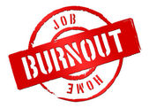 Warning to stop any kind of burnout — Stock Photo