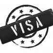 Visa - Black — Stock Photo