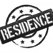 Residence - Black — Stock Photo