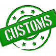Customs - Green — Foto Stock #9465463