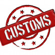 Customs - Red — Foto Stock #9465503