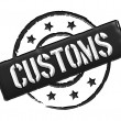 Customs - Black — Stock Photo