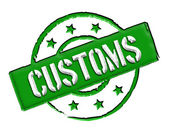 Customs - Green — Stock Photo