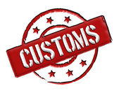 Customs - Red — Stock Photo