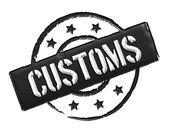 Customs - Black — Stock Photo