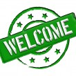 Welcome - Green - Stock Photo
