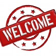 Welcome - Red - Stock Photo