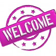 Welcome - Pink - Stock Photo