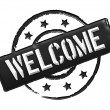 Welcome - Black - Stock Photo