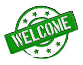 Welcome - Green — Stock Photo