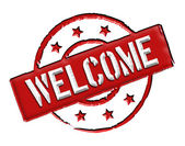 Welcome - Red — Stock Photo