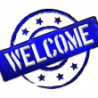Welcome - Blue - Stock Photo