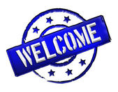 Welcome - Blue — Stock Photo