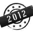 2012 - Stamp — Stock Photo