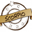 Zodiac - Retro - SCORPIO — Stock Photo