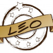 Zodiac - Retro - LEO — Stock Photo