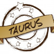 Royalty-Free Stock Photo: Zodiac - Retro - taurus