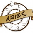 Retro Zodiac - Aries — Stock Photo