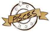Zodiac - Retro - PISCES — Stock Photo