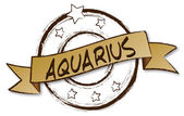 Zodiac - Retro - AQUARIUS — Stock Photo