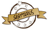 Zodiac - Retro - SAGITTARIUS — Stock Photo