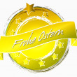 Frohe Ostern Banner — Stock Photo