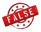 False - Stamp — Stock Photo
