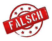 Falsch - Stamp — Stock Photo