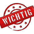 Wichtig - Stamp — Stock Photo