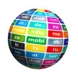Stock Photo: Worldwide Top Domains