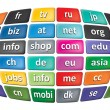Worldwide Top Domains — Stock Photo