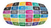 Worldwide Top Domains — Stock Photo