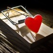 Heart mouse trap — Stock Photo