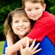 Spring portrait of mother and son on Mother's Day — Stock Photo #10158795
