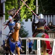 Knights jousting — Stock Photo