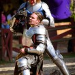 Knights dueling — Stock Photo