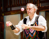 Atlanta renaissance festival performer — Stock Photo