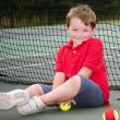 Portrait of young tennis player — Stockfoto
