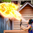 ������, ������: Performer breathing fire at Georgia Renaissance Festival