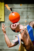 Performer at Georgia Renaissance Festival — Stock Photo