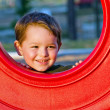 Young boy playing on playground — Stock Photo #9677565