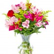 Colorful flower bouquet arrangement centerpiece isolated on white — Foto de Stock