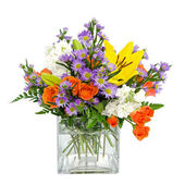 Flower arrangement centerpiece — Stock Photo