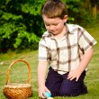 Boy on easter egg hunt — Stock Photo #9876846