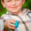 Boy holding easter egg — Stock Photo #9876852