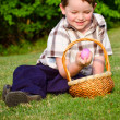 Boy on easter egg hunt — Stock Photo #9876853