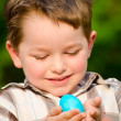 Boy holding easter egg — Stock Photo #9876860